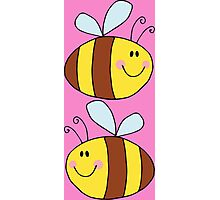 Cute Bumble Bee Drawing  Photographic Print