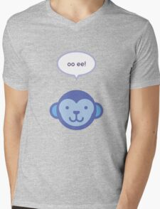 Oo ee! Monkey Mens V-Neck T-Shirt