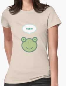 Ribbit! Frog Womens Fitted T-Shirt