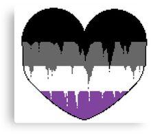 Bleeding Heart Asexual Canvas Print