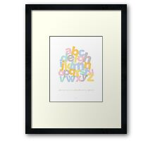 Alphabet Stack Framed Print