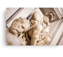 Michelangelo's sculpture Canvas Print