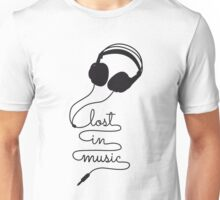 lost in music with headphone Unisex T-Shirt