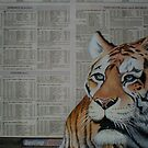 Tiger - Endangered Species Awareness Art by Cherie Roe Dirksen