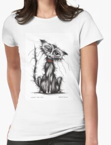 Lucky the cat Womens Fitted T-Shirt