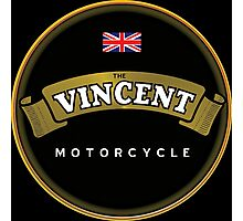 Vincent motorcycle England Photographic Print