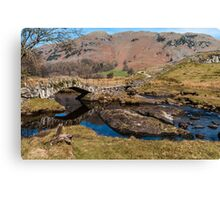 Slaters Bridge, Little Langdale. Canvas Print
