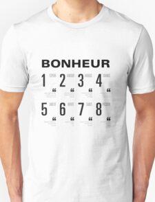 Bonheur - Typography Unisex T-Shirt