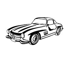 Mercedes 500 SL Gullwing Photographic Print
