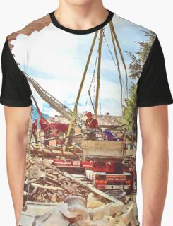 L'Aquila: firefighters at work Graphic T-Shirt