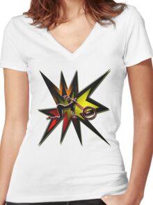EXPLOSIVE Chopper girl Women's Fitted V-Neck T-Shirt
