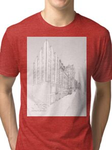 Pencil Drawing of A New York State of Mind Tri-blend T-Shirt