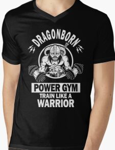 Dragonborn Power Gym Mens V-Neck T-Shirt