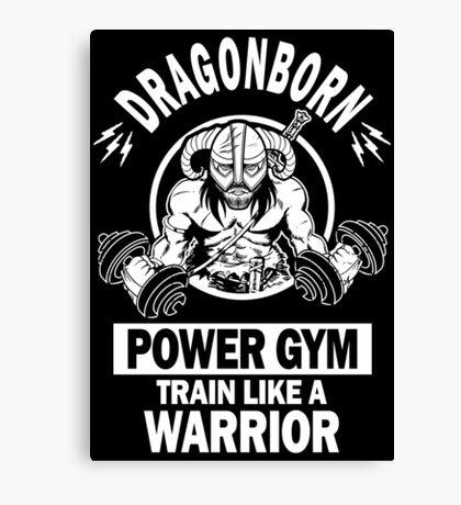 Dragonborn Power Gym Canvas Print