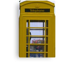 Yellow Phone Box Canvas Print