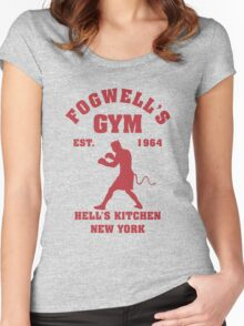 Fogwell's Gym Box the Devil Women's Fitted Scoop T-Shirt