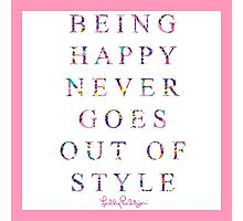 lily pulitzer quote Photographic Print