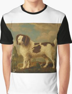 George Stubbs - Brown and White Norfolk or Water Spaniel 1778 Graphic T-Shirt