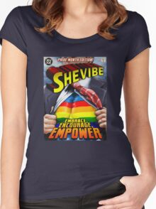 SheVibe Super Human Gay Pride Cover Art Women's Fitted Scoop T-Shirt