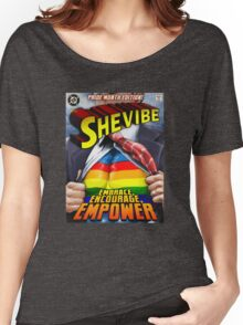 SheVibe Super Human Gay Pride Cover Art Women's Relaxed Fit T-Shirt