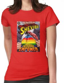 SheVibe Super Human Gay Pride Cover Art Womens Fitted T-Shirt