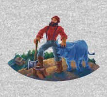 Paul Bunyan and Babe the Blue Ox One Piece - Short Sleeve