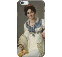 François-Henri Mulard - Portrait of a Lady in Fashionable Attire  1810 ,Woman Portrait Fashion  iPhone Case/Skin