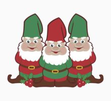 Christmas Gnomes One Piece - Short Sleeve