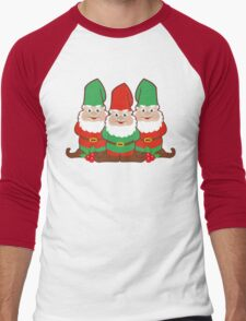 Christmas Gnomes Men's Baseball ¾ T-Shirt