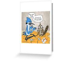 Regular Show Rigby and Mordecai Greeting Card