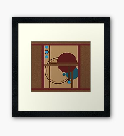 Geometric Earth Framed Print