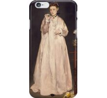 Edouard Manet - Young Lady in 1866 1866 iPhone Case/Skin