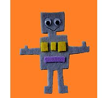 Robot on Orange  Photographic Print