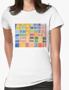 Rectangle Pattern With Sticks  Womens Fitted T-Shirt