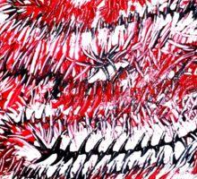 Rote Wirbel Sticker