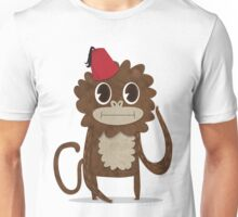 Monkey in a Fez Unisex T-Shirt