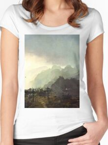 Misty Mountain Women's Fitted Scoop T-Shirt