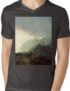 Misty Mountain Mens V-Neck T-Shirt