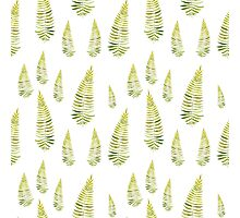 Watercolor fern seamless pattern Photographic Print