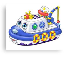 Preschool Tug Boat Canvas Print