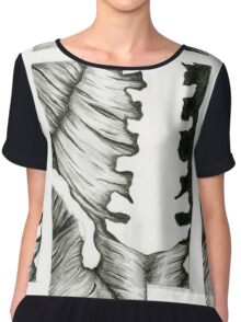 Anatomical Spine Chiffon Top
