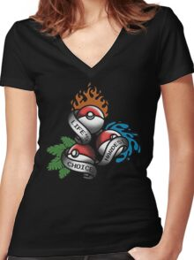 Life's Hardest Choice - Pokemon Women's Fitted V-Neck T-Shirt