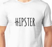 hipster, text design with mustache Unisex T-Shirt