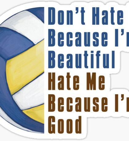 Im Beautiful Im Good Volleyball Sticker