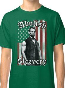 Abolish Sleevery (Vintage US Flag) Classic T-Shirt