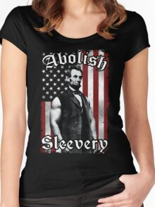 Abolish Sleevery (Vintage US Flag) Women's Fitted Scoop T-Shirt