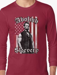 Abolish Sleevery (Vintage US Flag) Long Sleeve T-Shirt