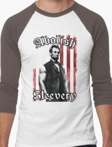Abolish Sleevery (Vintage US Flag) Men's Baseball ¾ T-Shirt