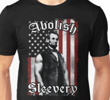 Abolish Sleevery (Vintage US Flag) Unisex T-Shirt
