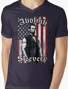 Abolish Sleevery (Vintage US Flag) Mens V-Neck T-Shirt